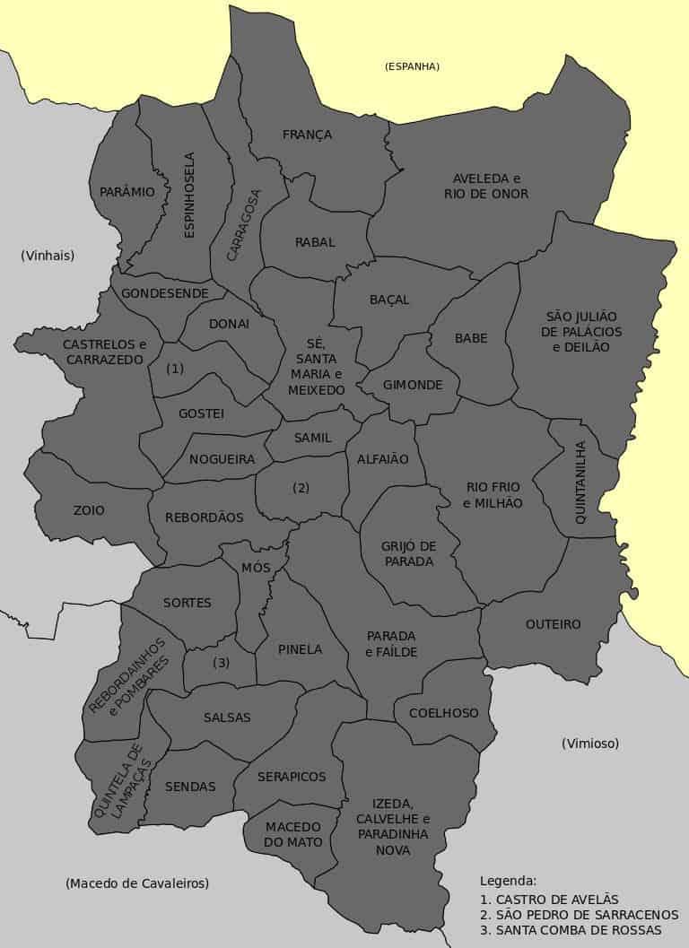 Freguesias de Bragança Portugal