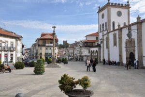 Centro da cidade de Bragança, Portugal