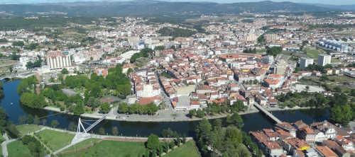 imagem aérea da cidade de Chaves