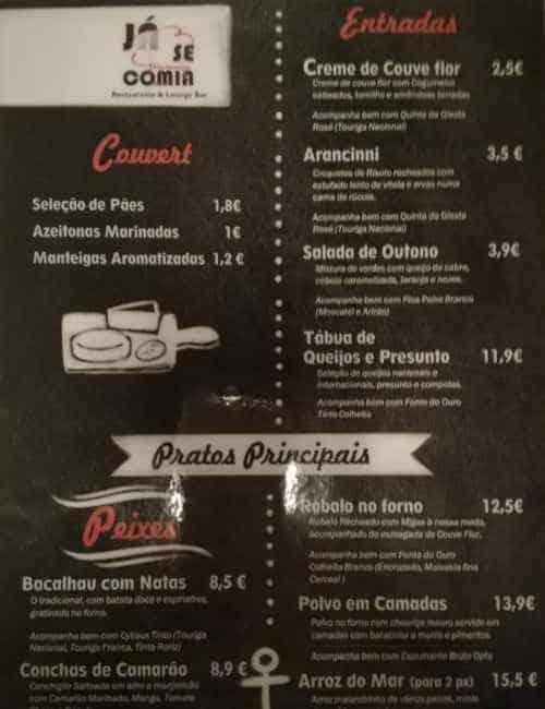Restaurante Já se Comia em Santa Comba Dão