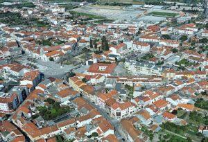 Vista aérea da cidade de Cantanhede