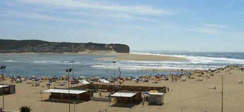 Praia de Foz do Rio Arelho no concelho das Caldas da Rainha Portugal