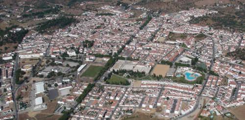 Vista aérea da cidade de Montemor-o-Novo
