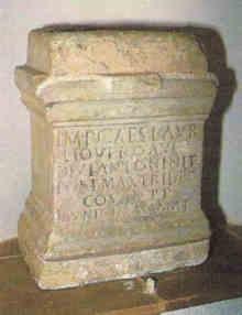Lápide Romana referente a Ammaia, exposta no Museu Municipal de Portalegre