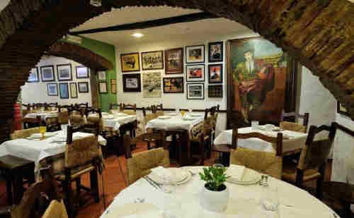 Restaurante Solar do Forcado em Portalegre - vista do interior