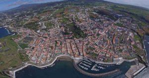 Cidade de Angra do Heroísmo - vista aérea