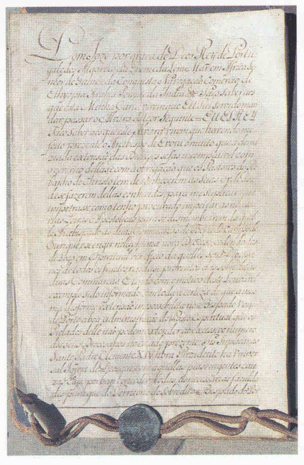 Carta régia de elevação da vila de Arrifana de Sousa a cidade com o nome de Penafiel