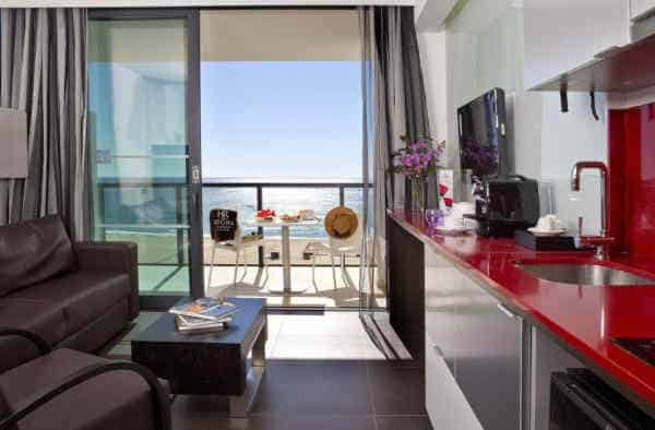 Hotel da Rocha - quarto com vista para a praia, em Portimão