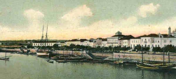 Porto de Portimão em 1906