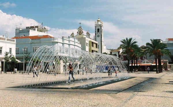 Praça da República em Portimão
