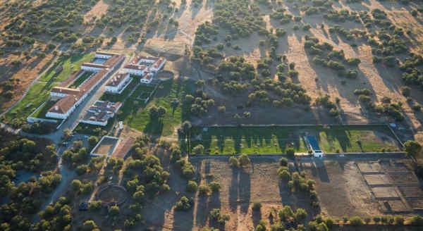 Imagem aérea da Herdade de São Lourenço do Barrocal em Reguengos de Monsaraz