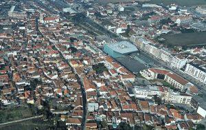 Vista aérea da cidade de Ílhavo