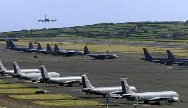 Base das Lajes na Ilha Terceira