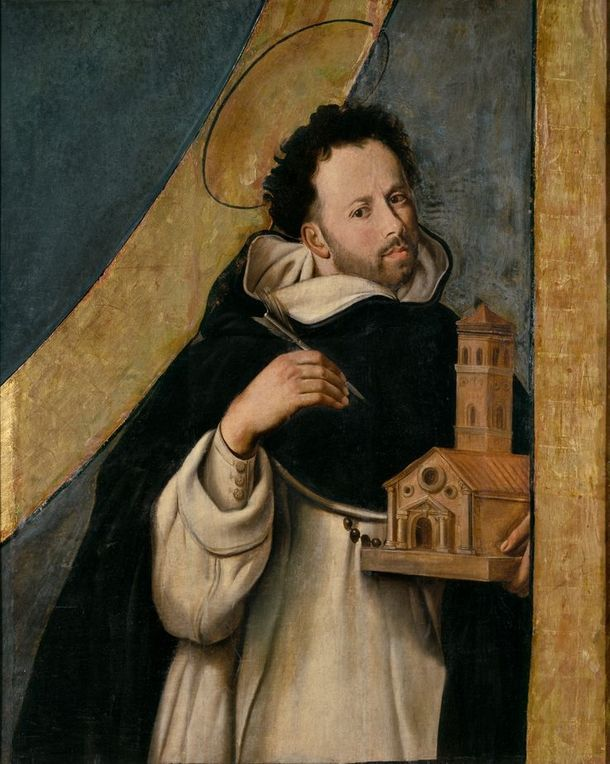 Pintura de São Domingos de Gusmão, fundador da Ordem de São Domingos em 1217.
