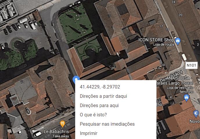 Imagem aérea da Igreja e Convento de São Domingos em Guimarães