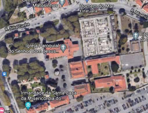 Imagem de satélite da Igreja do Bom Jesus de Matosinhos