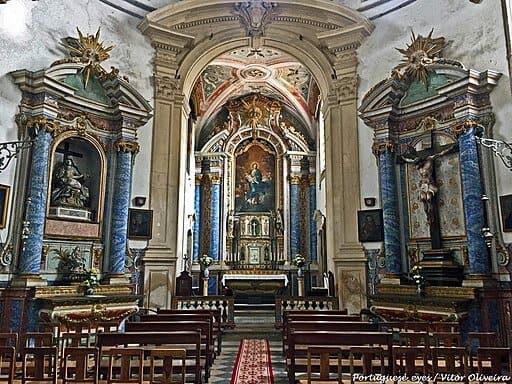 Interior da igreja do Mosteiro de Santa Maria de Celas
