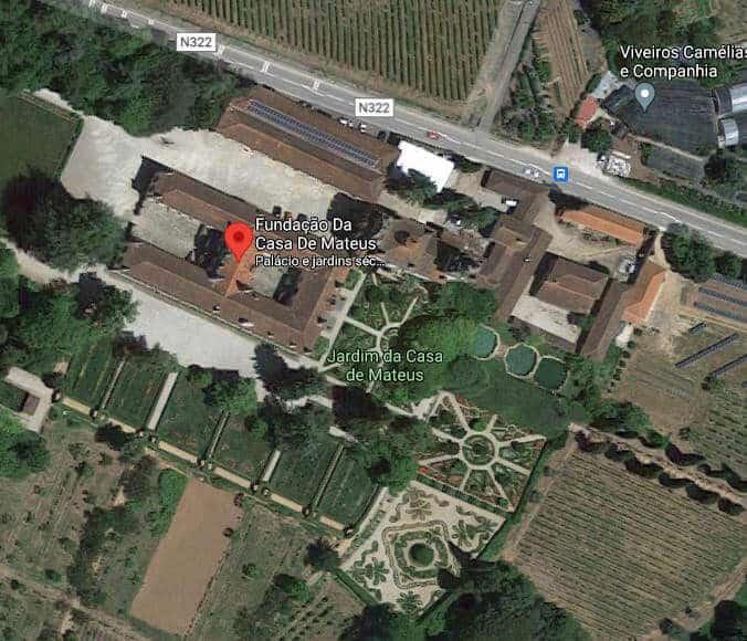 Vista aérea da Casa de Mateus