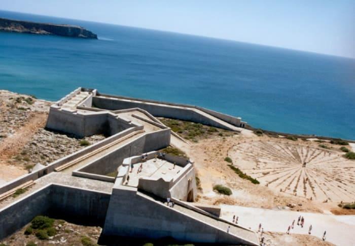 O forte de Sagres e o Oceano Atlântico