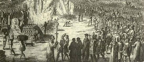 Morte pela fogueira era como terminavam os autos de fé na perseguição aos Cristãos-Novos