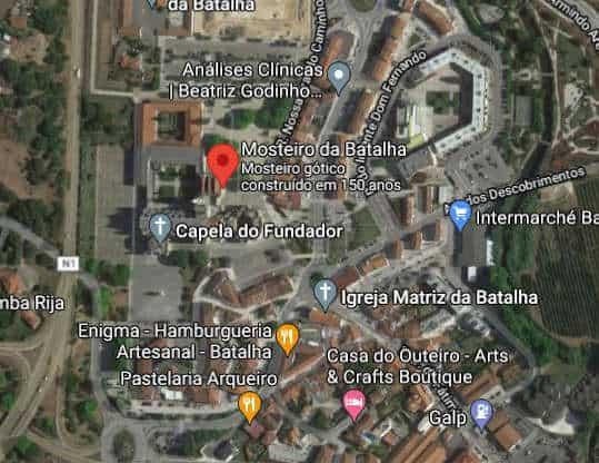 Localização do Mosteiro da Batalha