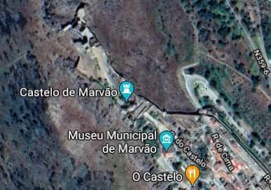 Clique para abrir o mapa com a localização do castelo e da Vila do Marvão