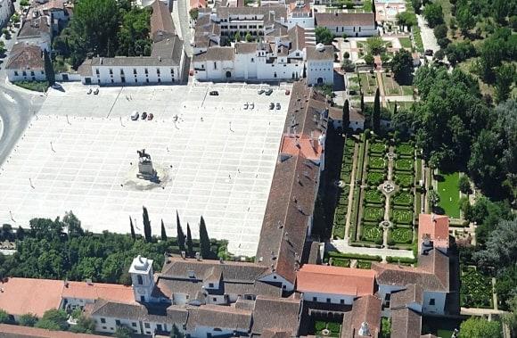 Vista aérea do Paço Ducal de Vila Viçosa