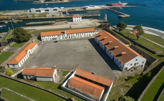 Vista aérea do Forte